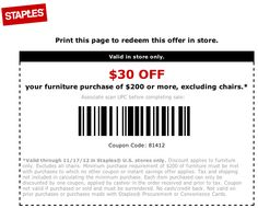 Staples printable coupon dec 2018