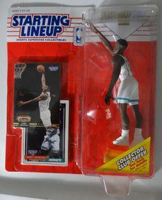 Nba Action Figures, Sports Baseball, Baseball Cards, Theme Sport, Larry Johnson, Basketball Leagues, Charlotte Hornets, Bobble Head, Lineup