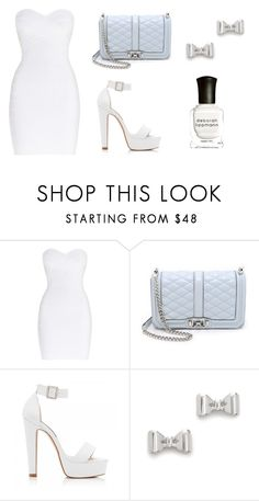 """""""casual & clean"""" by procrastination-princess ❤ liked on Polyvore featuring Hervé Léger, Rebecca Minkoff, Forever New, Marc by Marc Jacobs and Deborah Lippmann"""