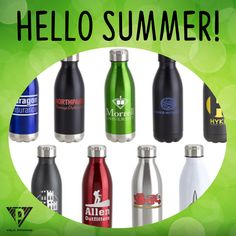 Help your employees survive the heat this summer with vacuum insulated stainless steel water bottles! Check out our website for hundreds of promotional products at unbeatable prices! | www.VelaPromos.com