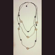 бусы; материал: лава, металлическая фурнитура, шнур вощенный. #колье #бусы #хендмейд #handmade #necklace #украшения #украшенияручнойработы #handmadejewelry #jewelry #jewellery