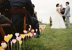 Colorful Heart Aisle Runner | Wedding & Party Ideas | 100 Layer Cake