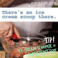 What does an ice cream scoop have to do with making meatballs? @katiecouric & @joelgamoran show us cool cooking hacks! More tips at: www.surlatable.com/FullPlate #fullplate #surlatable #hansgrohe #hansgroheusa #katiecouric #recipes #healthy #healthyrecipes #quickrecipes