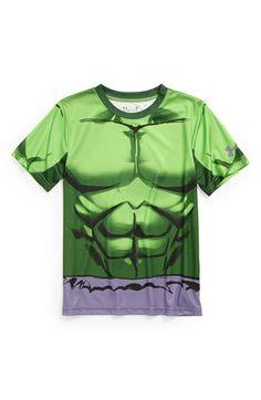 Under Armour 'Hulk - All Over' HeatGear® T-Shirt (Little Boys) available at #Nordstrom