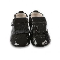 Zwarte, glanzende schoentjes - Old Soles