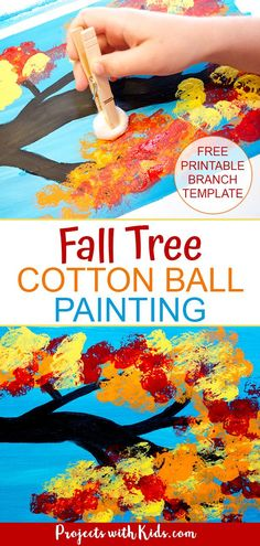 Diy fall crafts 149252175139394168 - Kids will love painting with cotton balls to create this fall tree painting with all of the gorgeous colors of the autumn season! Fall Arts And Crafts, Fall Crafts For Kids, Toddler Crafts, Art For Kids, Summer Crafts, Art Therapy Activities, Autumn Activities, Fall Preschool, Preschool Activities