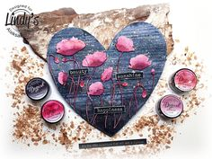 """Poppy Love Field"""" Mixed Media Canvas Inspiration and tutorials for mixed media projects, off the page projects, altered art, exploding boxes, miniatures, art journals, layouts, albums."""