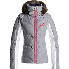 2928fc429fac Roxy Snowstorm Womens Snowboard Jacket Small Heritage Heather Wetter Im  Winter