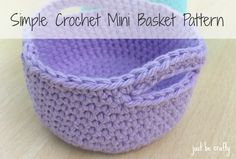 Hello again!  Today I am sharing with you a pattern to create mini crochet baskets which are totally functional and super cute!  I made a couple of them for drawer organizers because lord knows my ...
