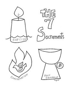 first grade ccd coloring pages | Catholic 7 Sacraments Activity Booklet | CCD | 7 ...