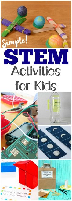 These easy STEM activities for kids are great for adding some hands-on fun to learning science, technology, engineering, and math! #scienceforkids #stem #learning