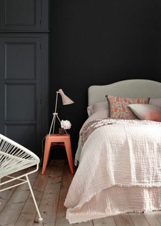 Thinking of repainting your home and looking for colors that go with gray walls? We have over 40 excellent suggestions for every room! Bedroom Red, Grey Furniture, Grey Decor, Grey Walls, Colours That Go With Grey, Home Decor, Yellow Curtains, Grey Bedding, Cool Furniture