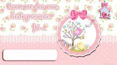 Convites Digitais Simples: Tag Adesivo para Presentes