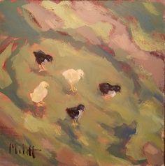 Heidi Malott Original Paintings: Spring Chicken Baby Chicks Original Oil Paintings ...