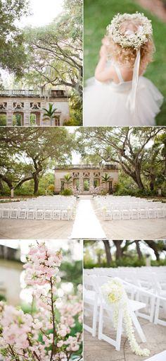 pink and white wedding-secret garden vintage inspired