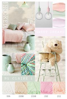 Sweet Dreams - kleurencombinatie van het prachtige garen ByClaire