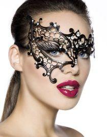 Masque gothique asymétrique en métal
