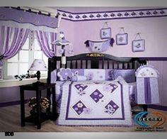 Baby Girl Nursery Ideas Purple get your matching wooden letters at www.funkyletterboutique.com