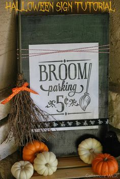 gallamore west: Halloween Sign Tutorial - click thru for the tutorial on this fun Halloween DIY craft idea using Mod Podge