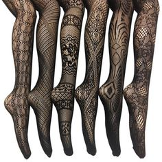 Women's Fishnet Lace Stocking Tights (Pack of 6)   Overstock.com Shopping - The Best Deals on Intimates - Amazing fabric, fits very well.