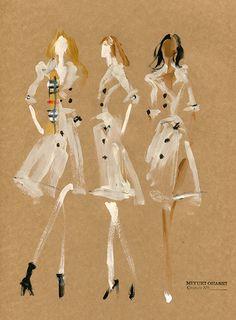 Burberry A//W14 Campaign: Cara Delevingne, Suki Waterhouse & Malaika Firth, by Miyuki Ohashi
