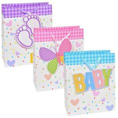 """Voila """"New Baby"""" Extra-Large Gift Bag"""