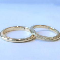 シンプルすぎず、既製品にはないような、オリジナルなバランス感がほしいというご希望でした  [marriage,wedding,ring,bridal,K18,マリッジリング,結婚指輪,オーダーメイド,槌目,ウエディング,ith,イズマリッジ]