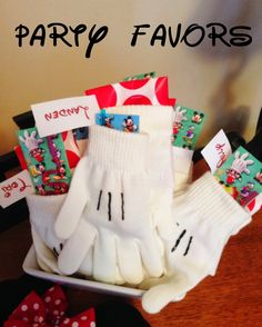 Mickey Mouse Glove Party Favors - what an adorable idea!!!!