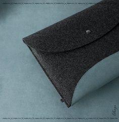 Macbook Air sleeve 11 or 13 inch Mac Book Air felt leather sleeve SPACE Earth Edition. $85.00, via Etsy.