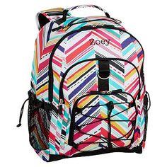 6bb902e624 Gear-Up Diagonal Stripe Backpack  pbteen Cute Backpacks For School
