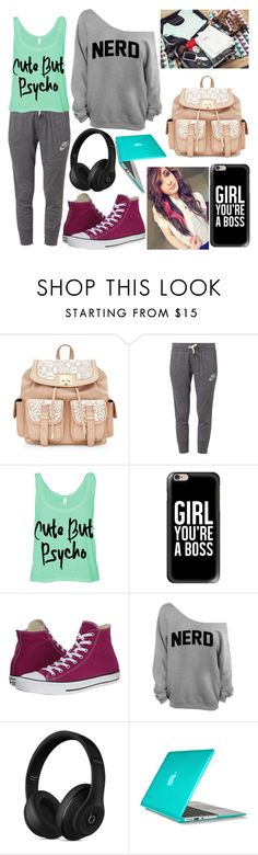 """100 Day Challenge - Day 29"" by kirra-joy-brooks-02 ❤ liked on Polyvore featuring NIKE, Casetify, Converse, Beats by Dr. Dre and Speck"
