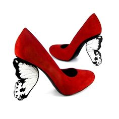 ähhhhhhmmm crazy shoes butterfly heels by Alberto Guardiani Do You Have the Right Blades for Your Ce Funky Shoes, Crazy Shoes, Me Too Shoes, Weird Shoes, Dream Shoes, Creative Shoes, Unique Shoes, Butterfly Heels, Red Butterfly