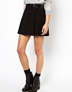 Image 4 of ASOS Mini Skirt with Pleats