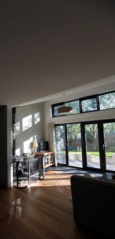 Living and morning light. Cygnet Residence. Design & Build. (New House) 2011.