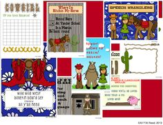 All Y'all Need: Wild West Speech/Language Bulletin Boards + Giveaway today!