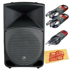Mackie Thump TH-15A Two-Way Powered Loudspeaker Bundle with Two 20-Foot XLR-XLR Cables, Heavy Guage 33-Foot Speaker Cable, and Polishing Cloth by Mackie. $354.99. Bundle includes Mackie Thump TH-15A Two-Way Powered Loudspeaker, Two 20-Foot XLR-XLR Cables, Heavy Guage 33-Foot Speaker Cable, and Polishing Cloth.Designed by the same team that produced the best-selling Mackie SRM450v2, the Mackie Thump Series Powered Loudspeakers deliver deep low-end and real power ...