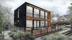 Shipping container homes are extremely popular. Find out the real pros, cons, and cost comparison to building a shipping container home. Prefab Container Homes, Shipping Container Home Designs, Building A Container Home, Container Cabin, Storage Container Homes, Container House Design, Shipping Containers, Bungalows, Modern Prefab Homes