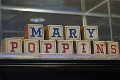 Tons of Mary Poppins party ideas. Pictured alphabet blocks from Mary Poppins by StartedByAMouse, via Flickr