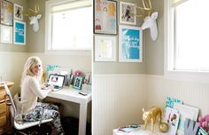 Love this cute office!