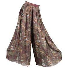 Layered Silk Chiffon Wide Leg Palazzo Pants