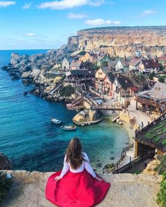 Popeye Village Viewpoint, Mellieha, Malta — by Liza Skripka Places To Travel, Places To See, Travel Destinations, Malta Vacation, Capital Of Malta, Malta Beaches, Malta Island, Travel Inspiration, Travel Photography