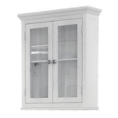 Elegant Home Fashions Madison Avenue Wall Cabinet - White Dimensions: 24.000H 20.000W 7.000D