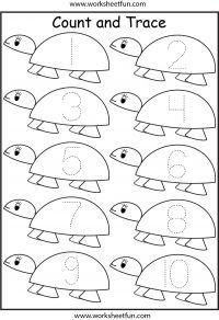 Number Tracing Worksheets For Kindergarten 1 10 Ndash Ten Worksheets Preschool Number Worksheets, Pre K Worksheets, Numbers Kindergarten, Numbers Preschool, Free Preschool, Preschool Printables, Preschool Learning, Kindergarten Worksheets, Reptiles Preschool