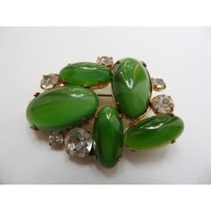 green glass cabochon brooch,glass cabochons brooch,green glass... (€24) ❤ liked on Polyvore featuring jewelry, brooches, cabochon jewelry, rhinestone brooches, glass jewelry, green jewelry and rhinestone broach