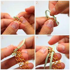 DIY Jewelry Tutorial Pulsera Cadena Doble