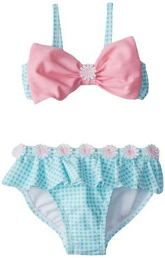 Hartstrings Girls Gingham with Bow 2 Piece Bathing Suit, Blue White Check, Cute Dog Clothes, Doll Clothes, Baby Girl Fashion, Kids Fashion, Unicorn Fashion, Baby Girl Swimsuit, Baby Clothes Patterns, Dance Leotards, Kids Swimwear
