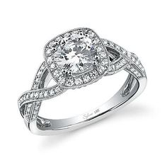 I WANT A RING LIKE .... Desiree Hartsock from this season's Bachelorette got engaged with a Cushion Halo engagement ring! It looks a lot this amazing ring from the Sylvie Collection!