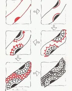 How to Zentangle Patterns Free | Free Zentangle How To Patterns | New Tangle – Dinosawer | Artistic ...