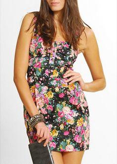 vestidos cortos floreados - Buscar con Google