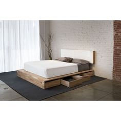 MASH Studios LAX Storage Platform Bed.  Perfect bed.  Needs a different headboard.